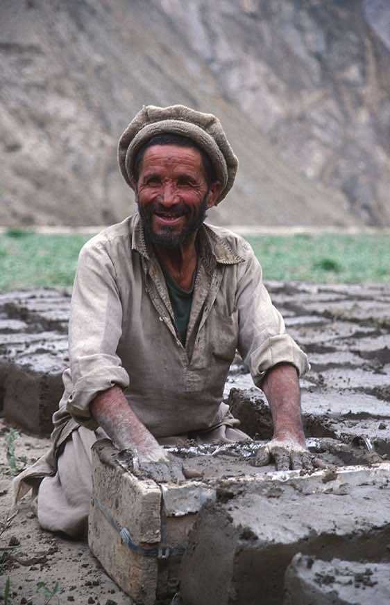 Man making bricks, Askole, Karakoram Mountains