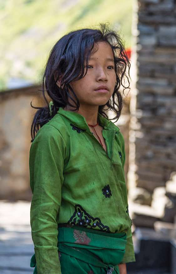 Girl, Buri Gandaki Valley, Around Manaslu Trek, Nepal Himalaya