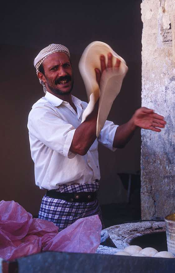 Man making bread, Taiz