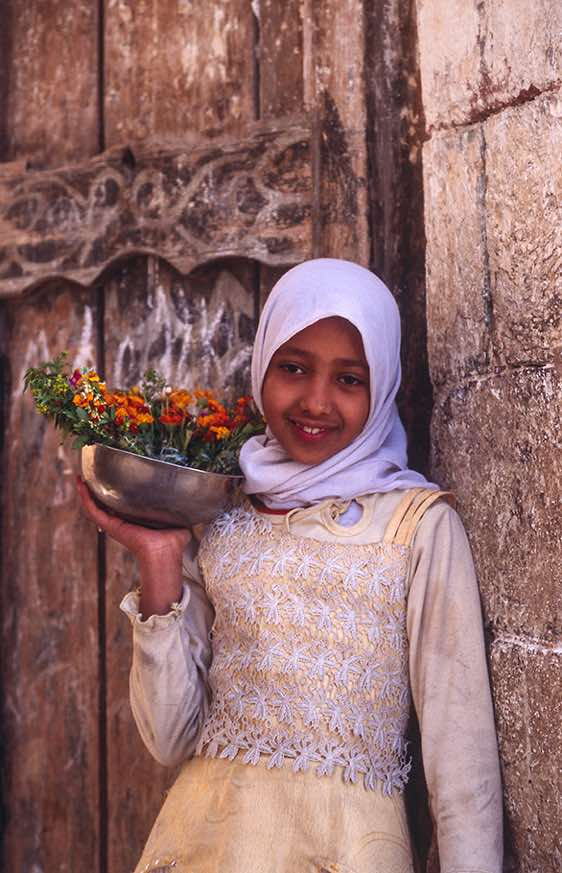 Girl with flowers, Jiblah